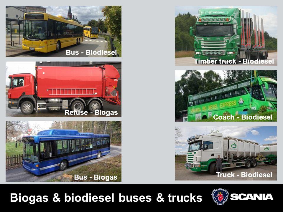 Biogas & biodiesel buses & trucks