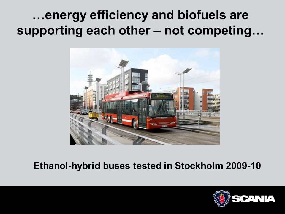 Ethanol-hybrid buses tested in Stockholm 2009-10
