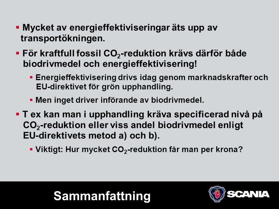 Mycket av energieffektiviseringar äts upp av transportökningen.