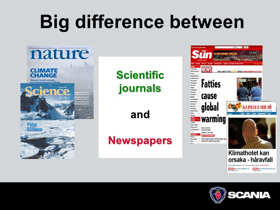 Big difference between Scientific journals and Newspapers