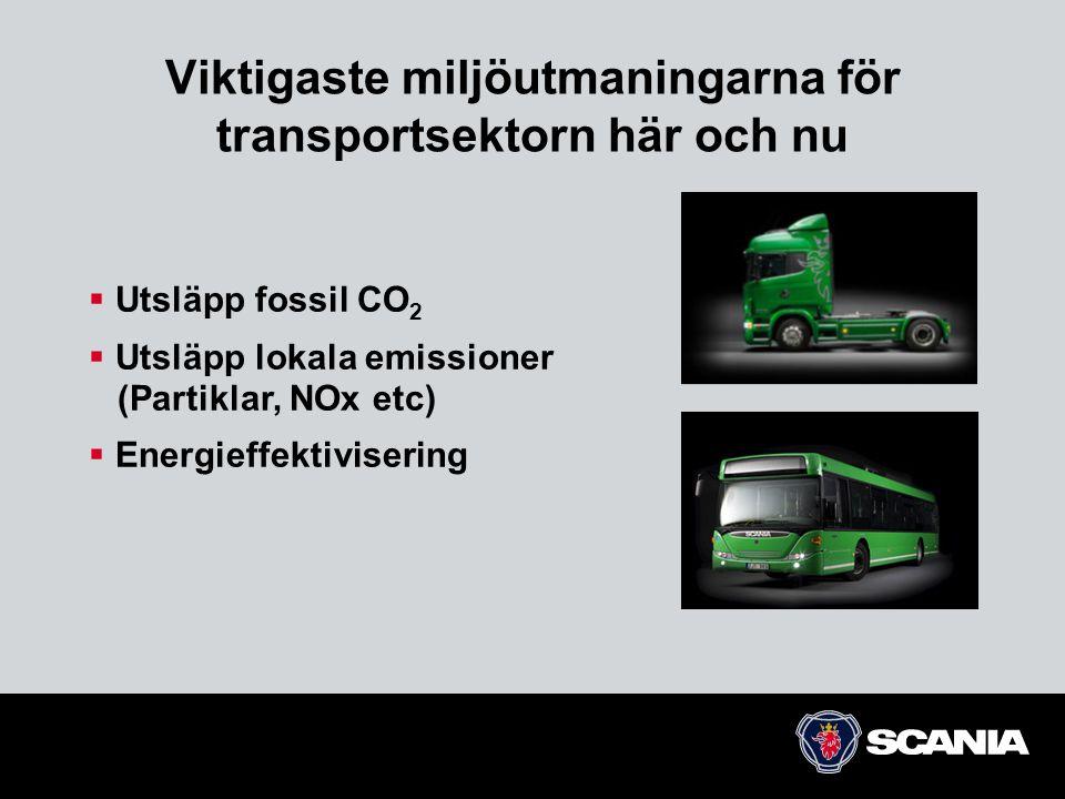 Viktigaste miljöutmaningarna för transportsektorn här och nu