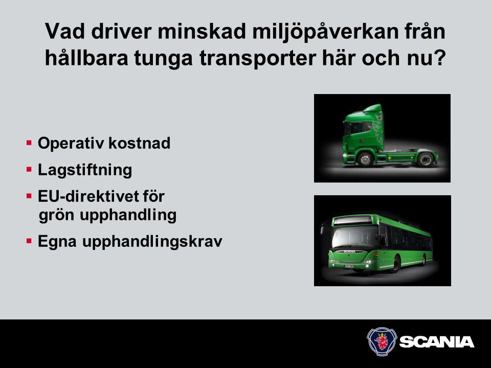 Vad driver minskad miljöpåverkan från hållbara tunga transporter här och nu