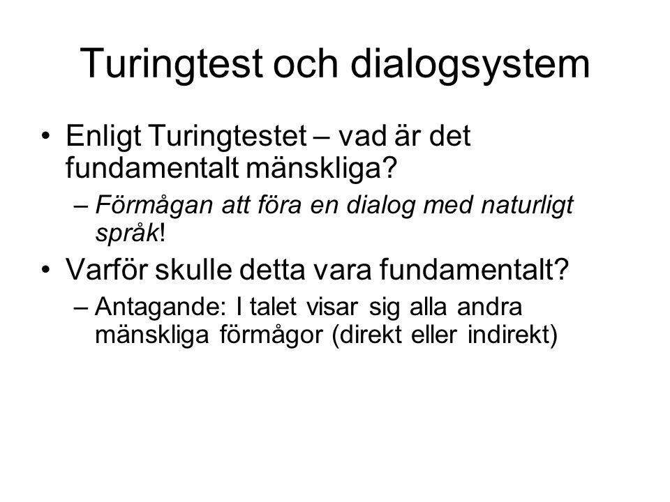 Turingtest och dialogsystem