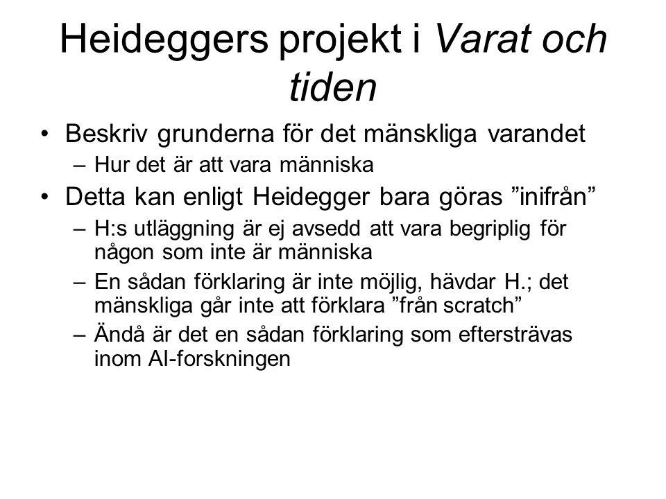 Heideggers projekt i Varat och tiden