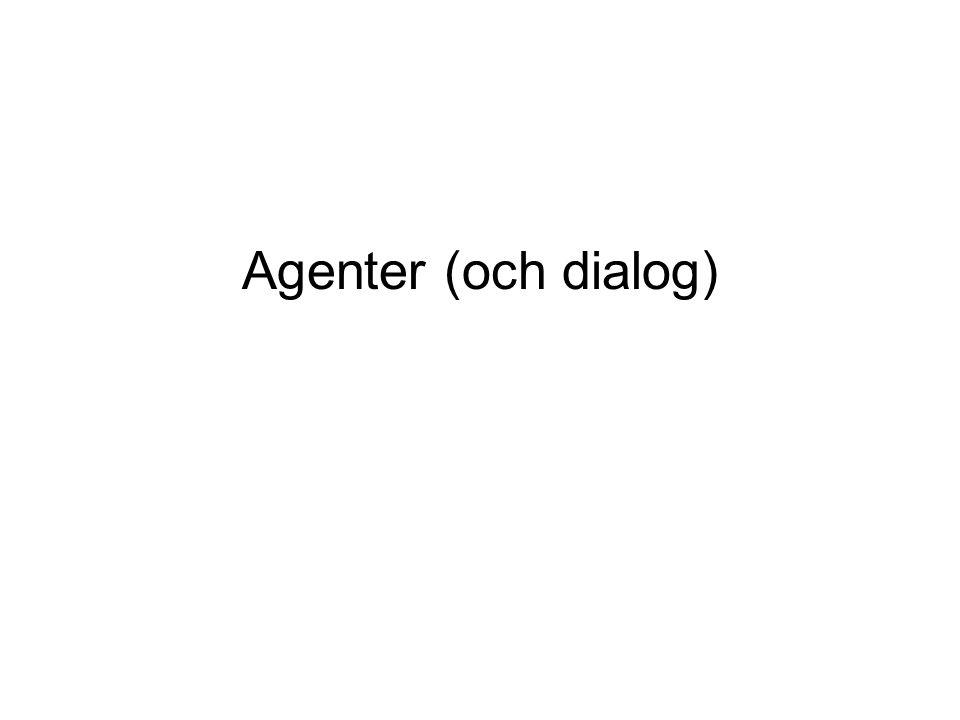 Agenter (och dialog)