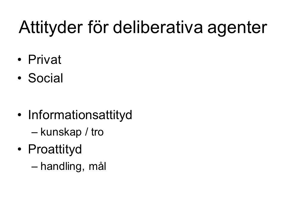 Attityder för deliberativa agenter