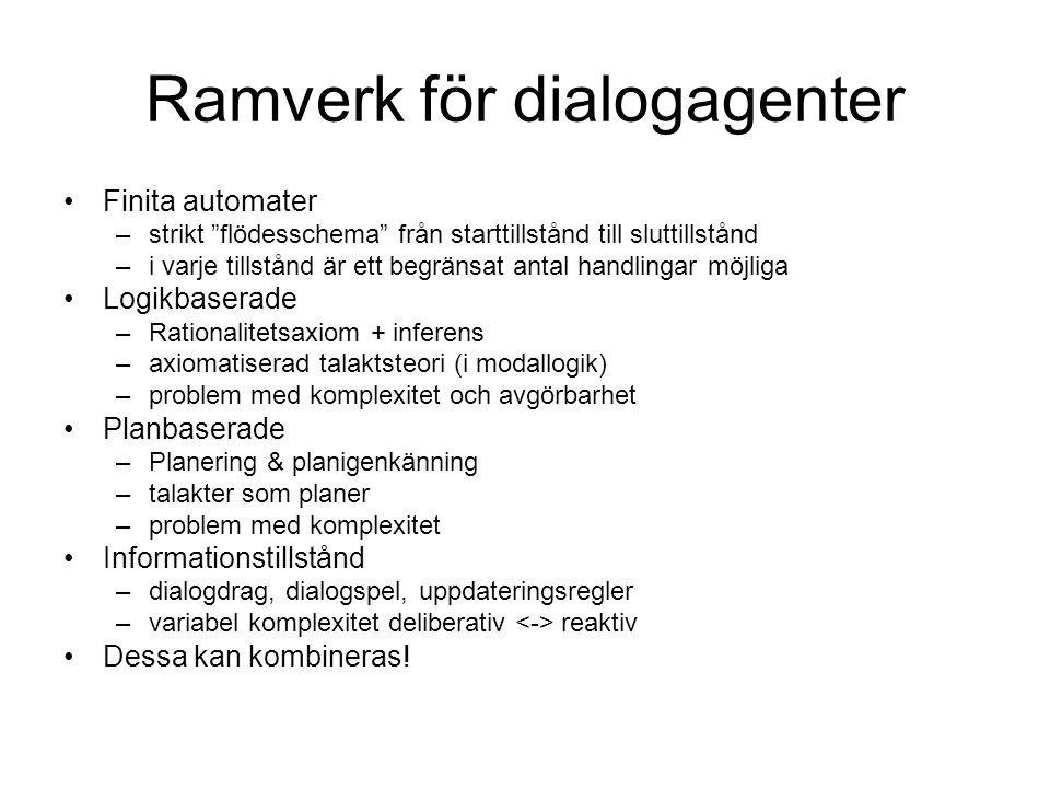 Ramverk för dialogagenter
