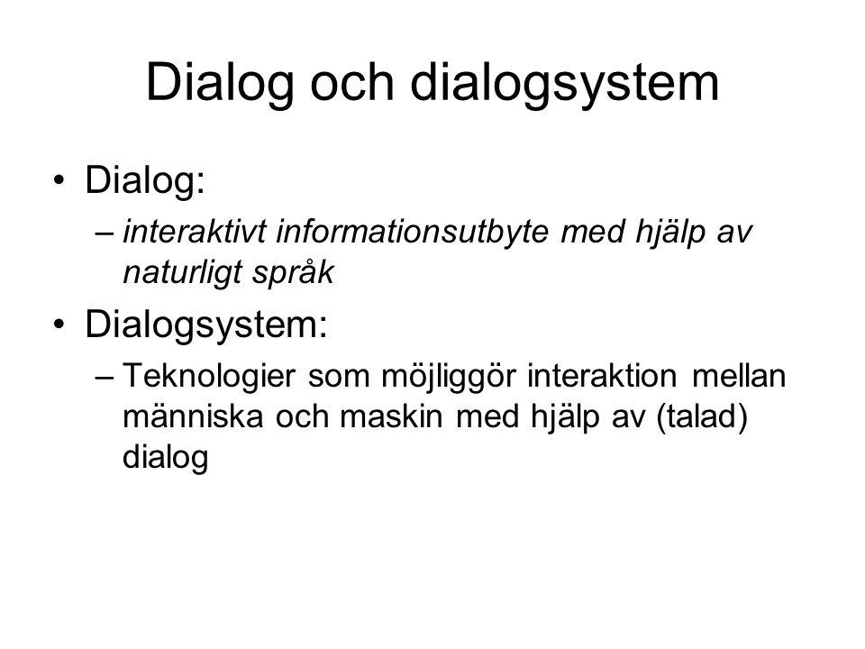 Dialog och dialogsystem