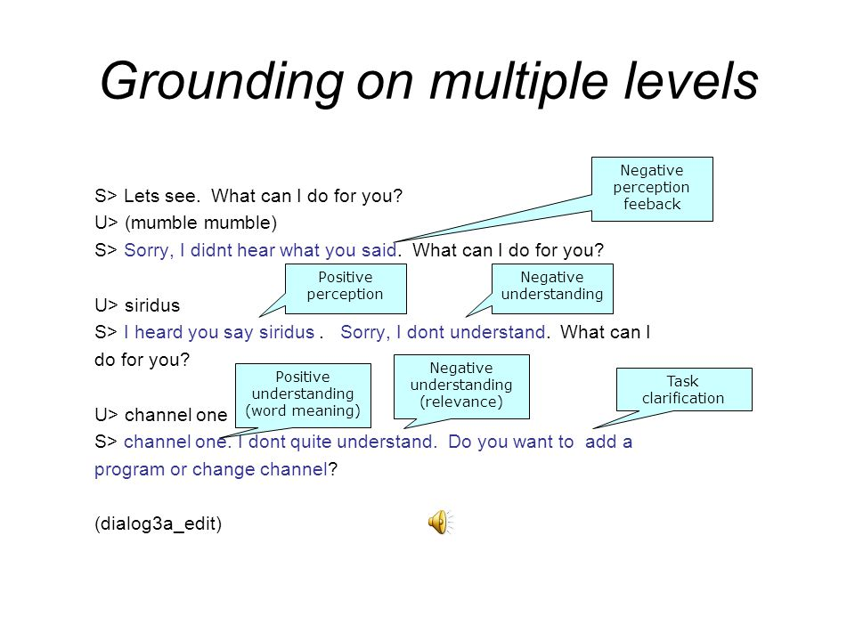 Grounding on multiple levels