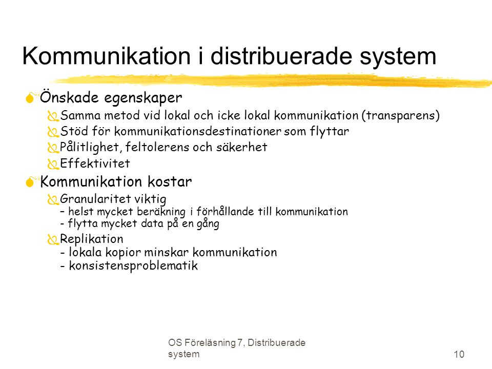 Kommunikation i distribuerade system