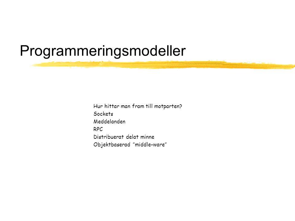 Programmeringsmodeller