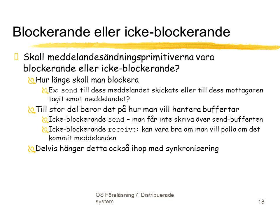Blockerande eller icke-blockerande