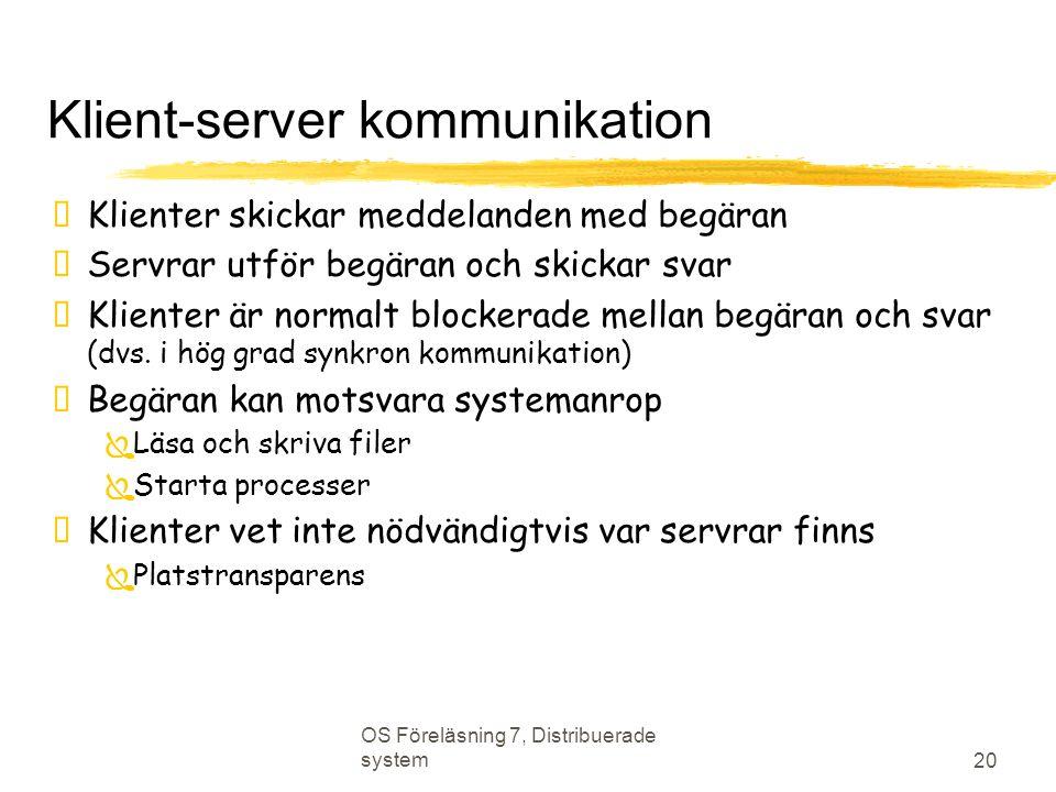 Klient-server kommunikation