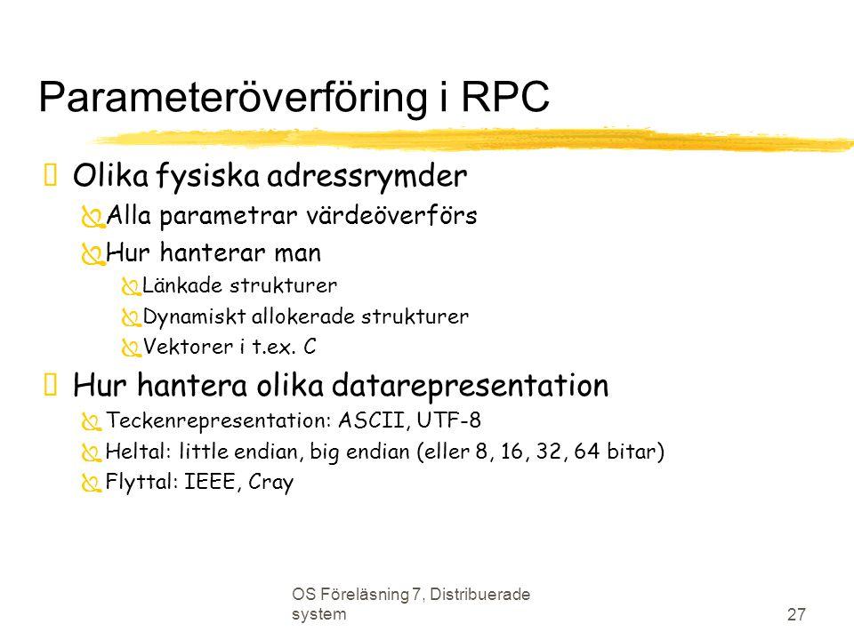 Parameteröverföring i RPC