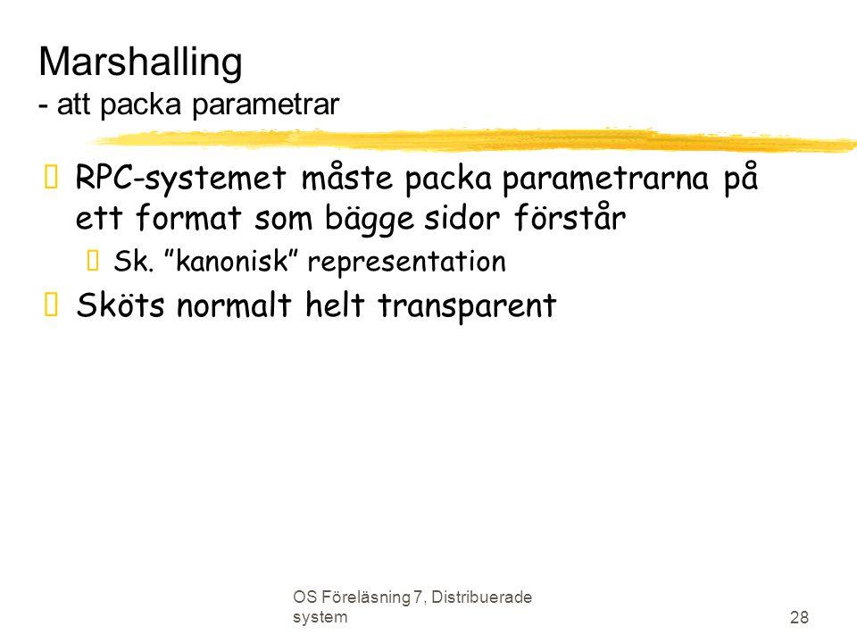 Marshalling - att packa parametrar