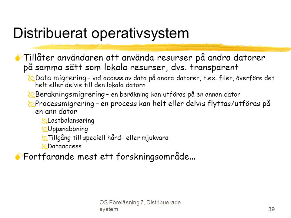 Distribuerat operativsystem