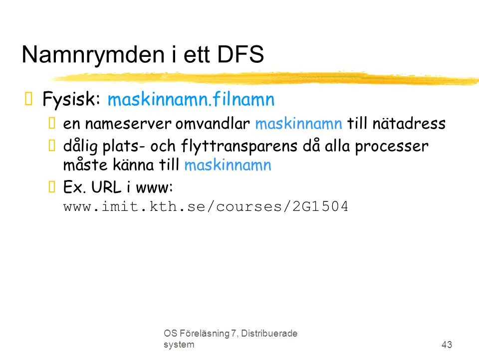 Namnrymden i ett DFS Fysisk: maskinnamn.filnamn