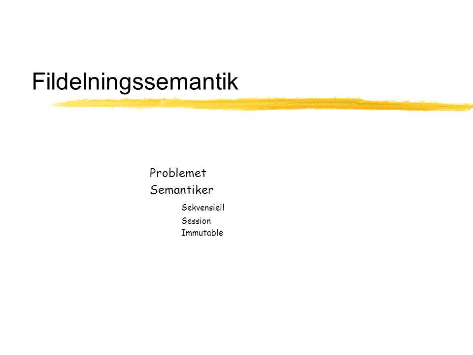 Fildelningssemantik Problemet Semantiker Sekvensiell Session Immutable