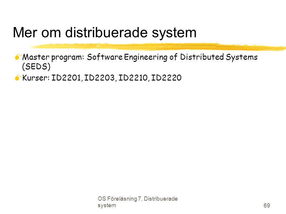 Mer om distribuerade system