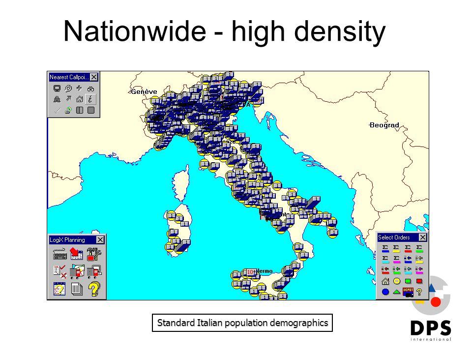 Nationwide - high density