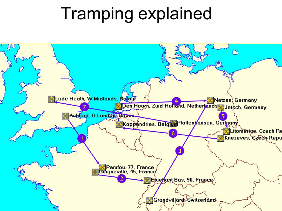 Tramping explained 4 7 5 6 1 3 2
