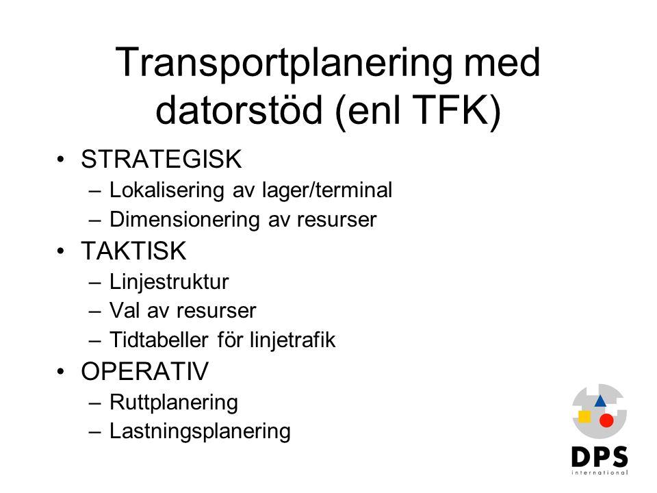 Transportplanering med datorstöd (enl TFK)
