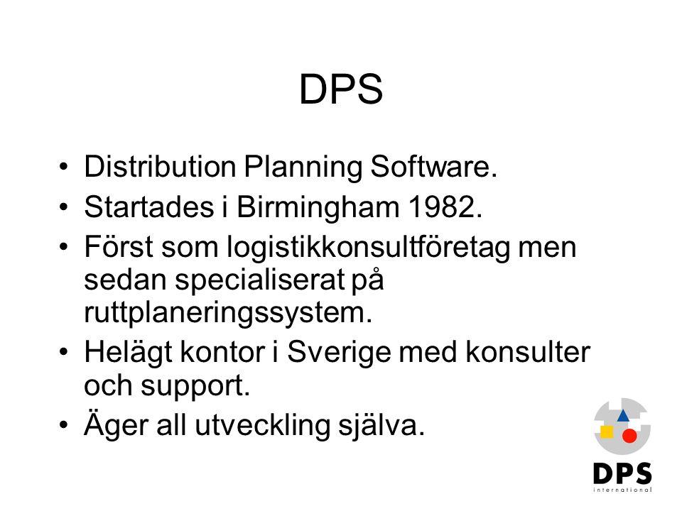DPS Distribution Planning Software. Startades i Birmingham 1982.