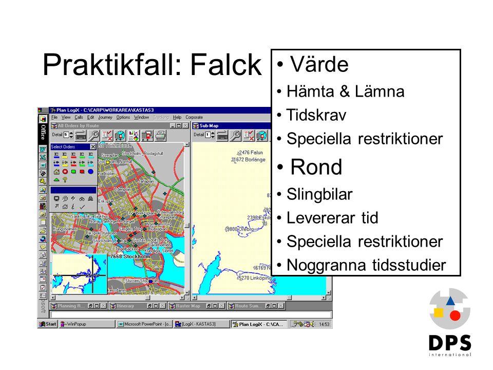 Praktikfall: Falck Värde Rond Hämta & Lämna Tidskrav