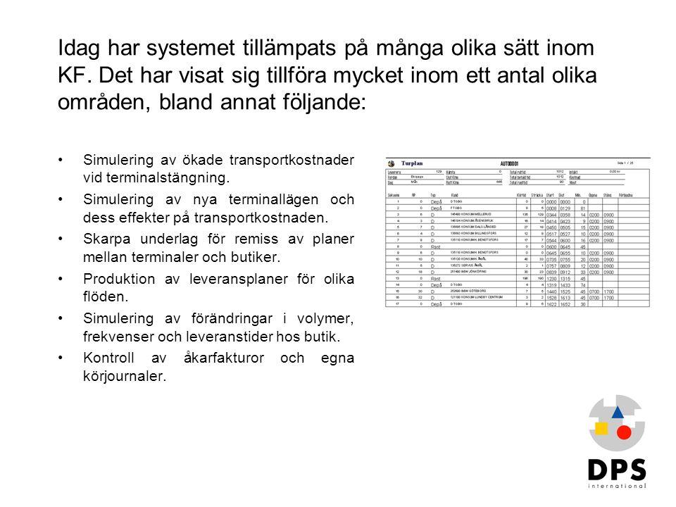 Idag har systemet tillämpats på många olika sätt inom KF