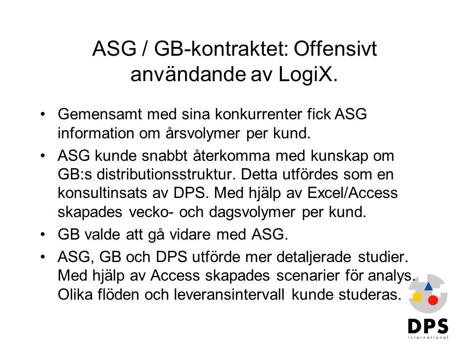ASG / GB-kontraktet: Offensivt användande av LogiX.