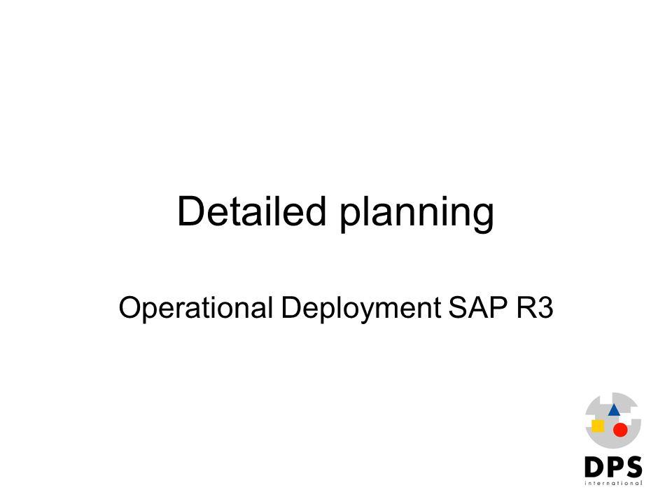 Operational Deployment SAP R3