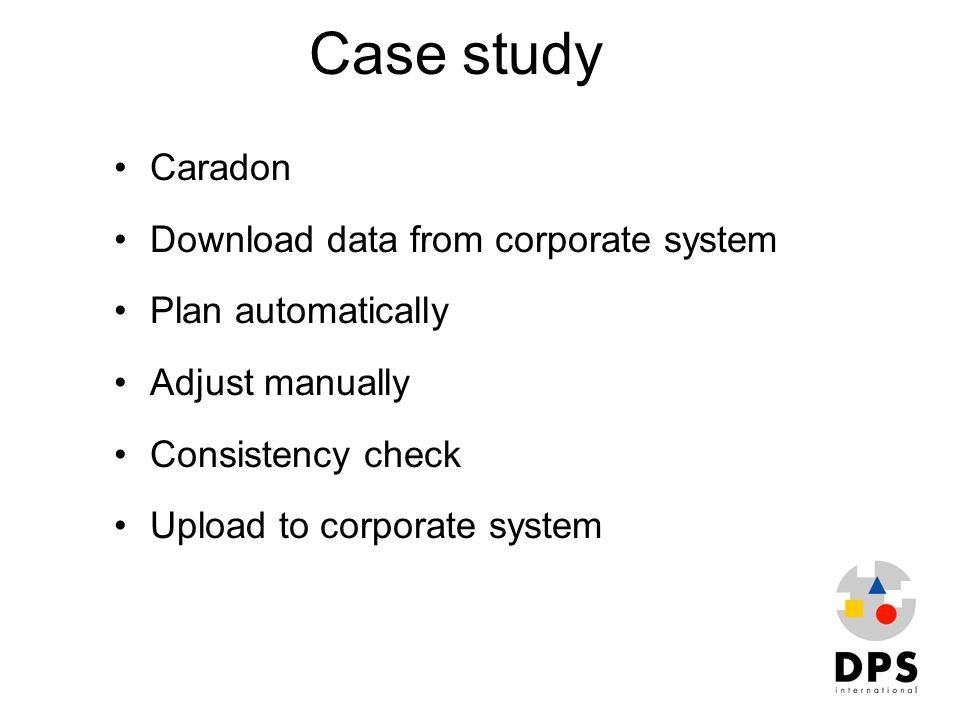 Case study Caradon Download data from corporate system