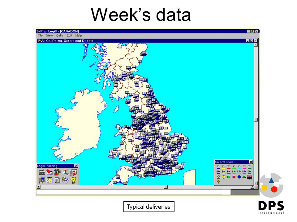 Week's data Typical deliveries