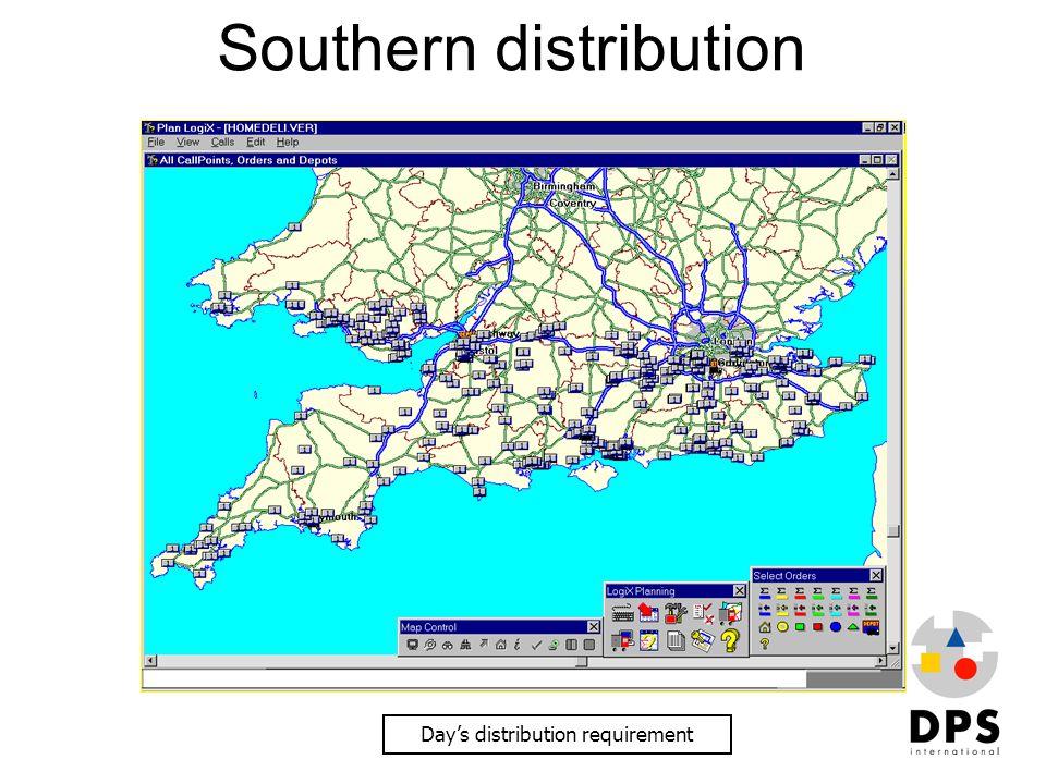 Southern distribution