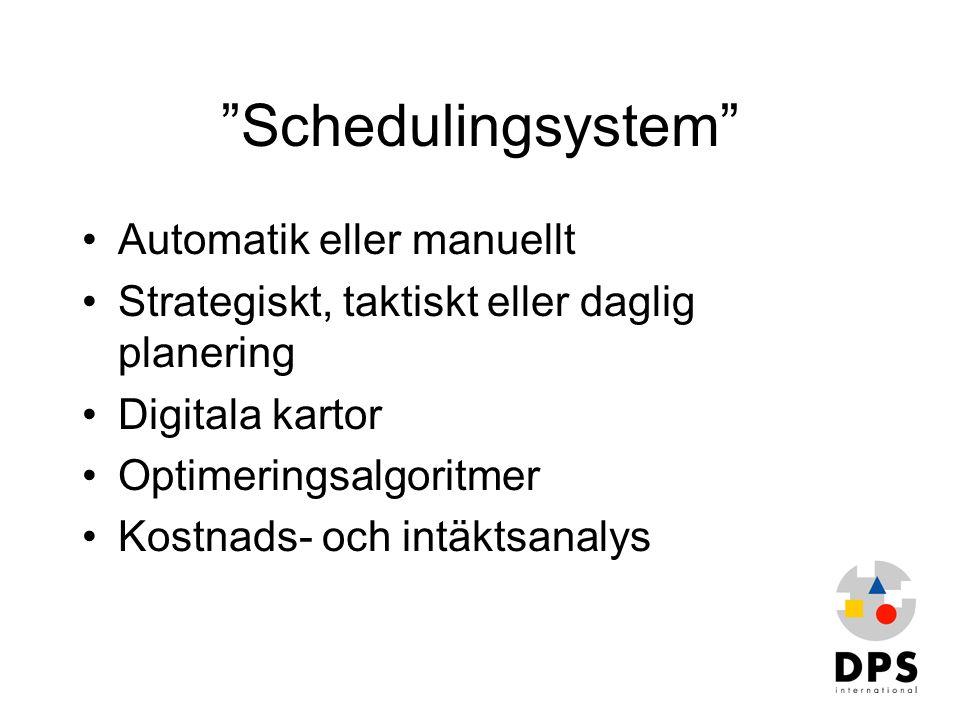 Schedulingsystem Automatik eller manuellt