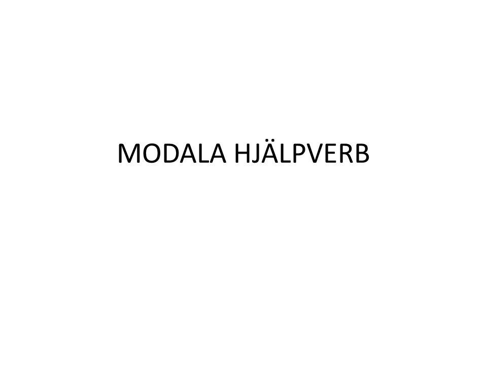 MODALA HJÄLPVERB