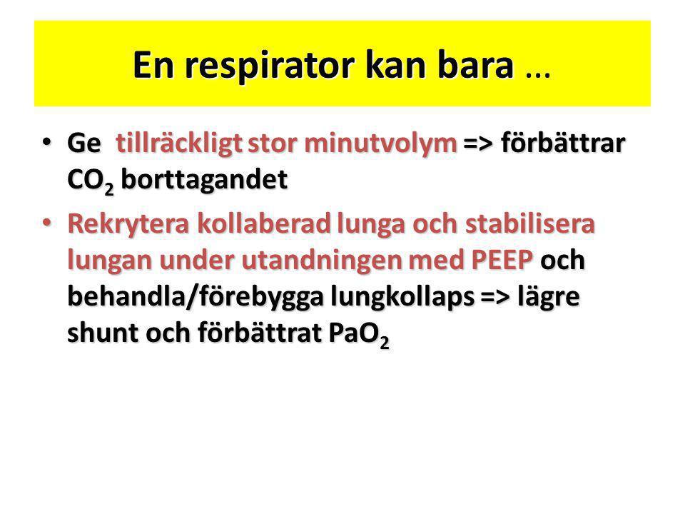 En respirator kan bara …