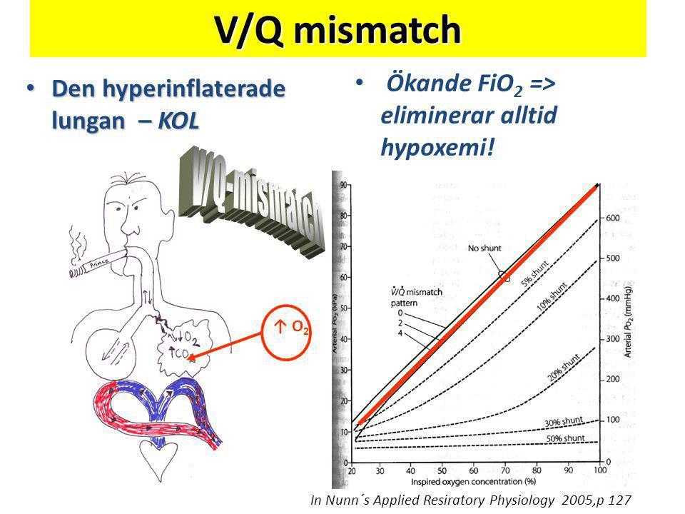 V/Q mismatch V/Q-mismatch