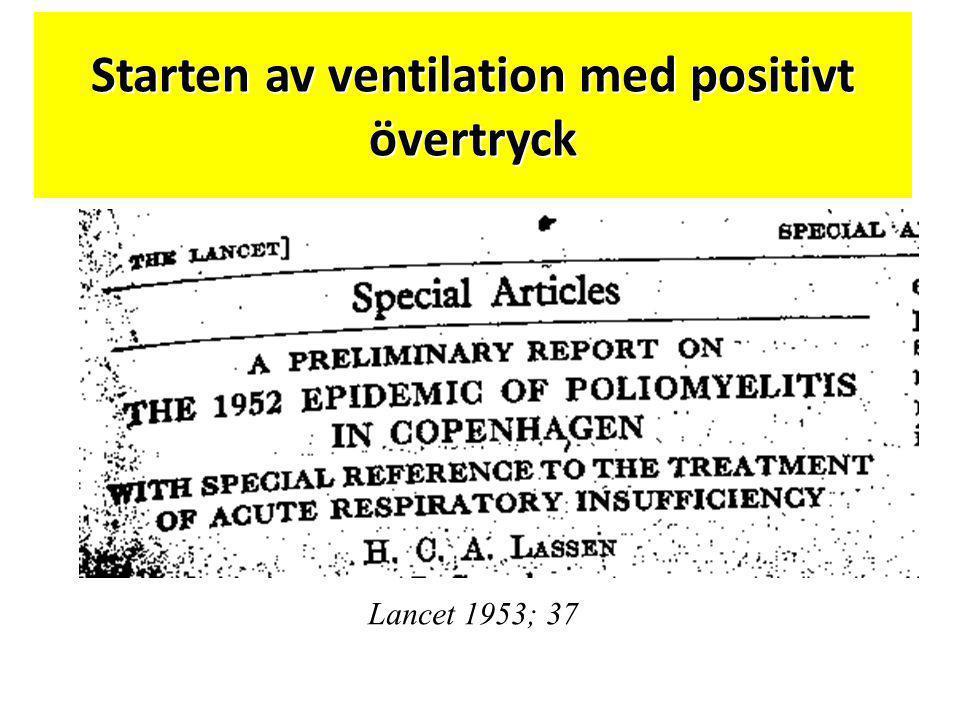 Starten av ventilation med positivt övertryck