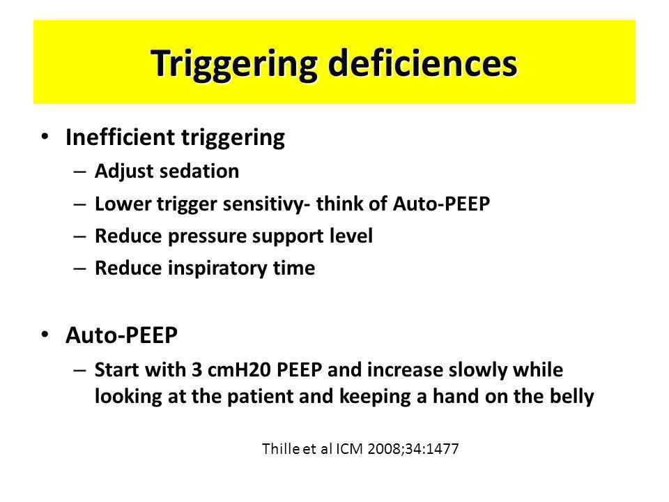 Triggering deficiences
