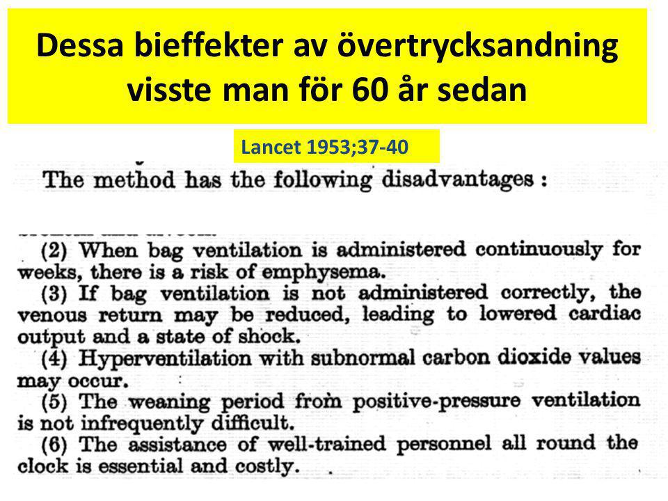 Dessa bieffekter av övertrycksandning visste man för 60 år sedan