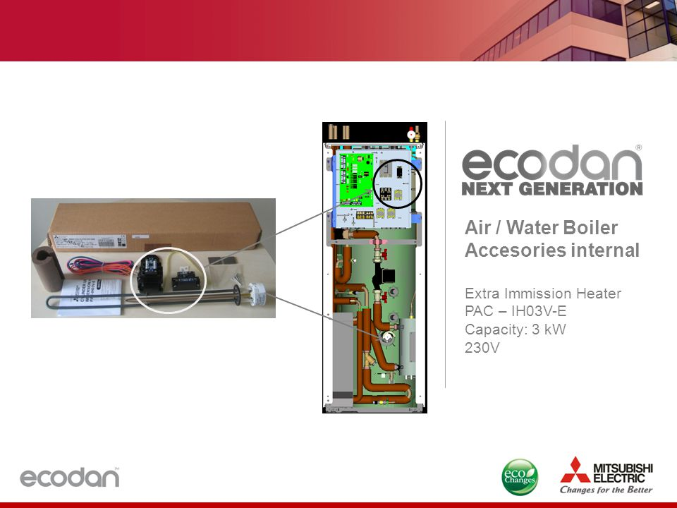 Air / Water Boiler Accesories internal Extra Immission Heater