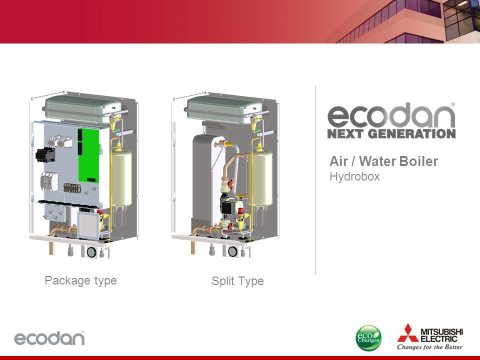 Air / Water Boiler Hydrobox Package type Split Type