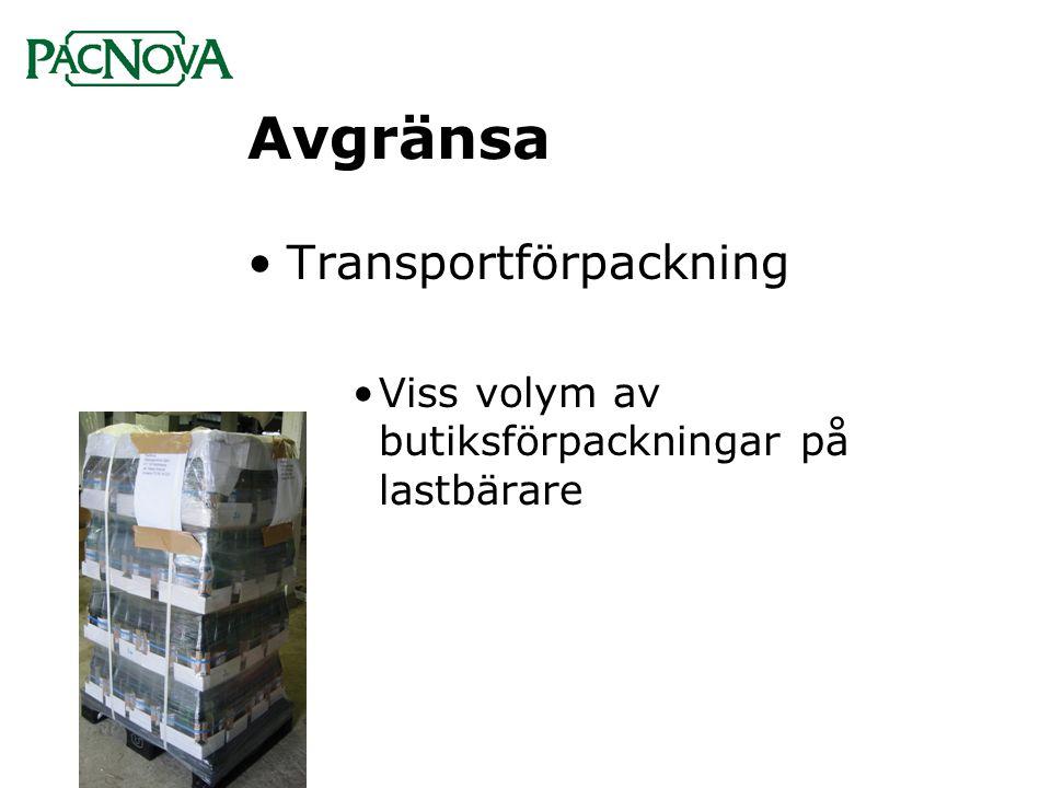 Avgränsa Transportförpackning