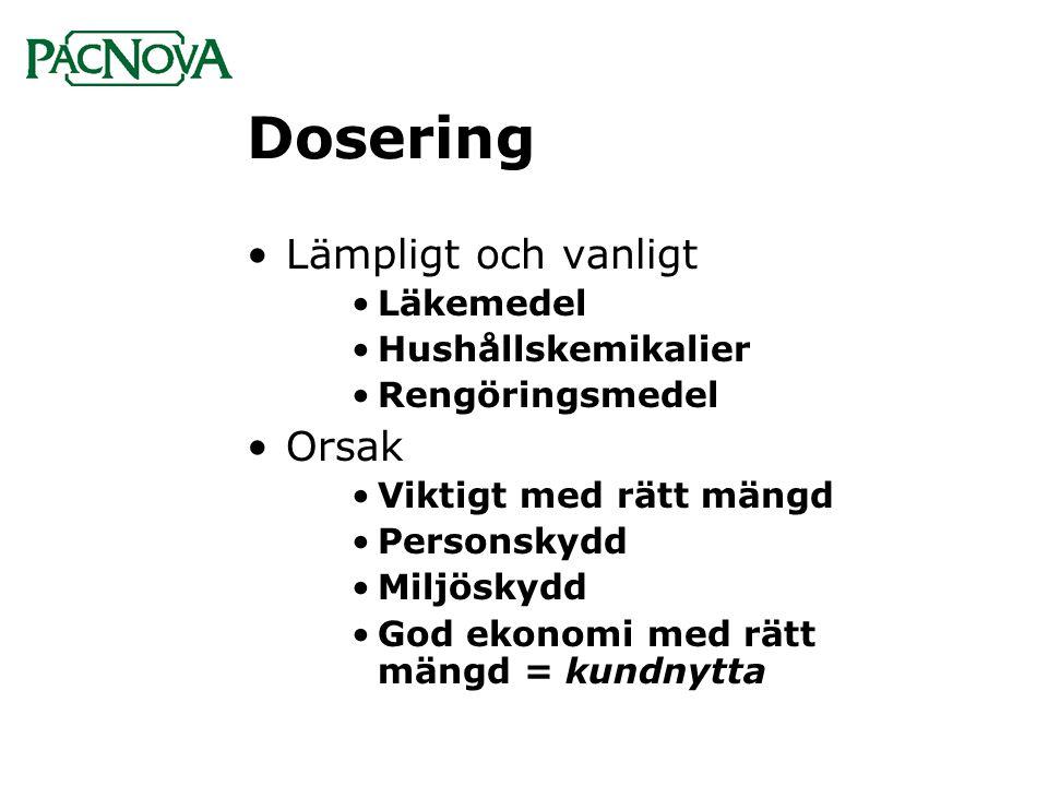 Dosering Lämpligt och vanligt Orsak Läkemedel Hushållskemikalier