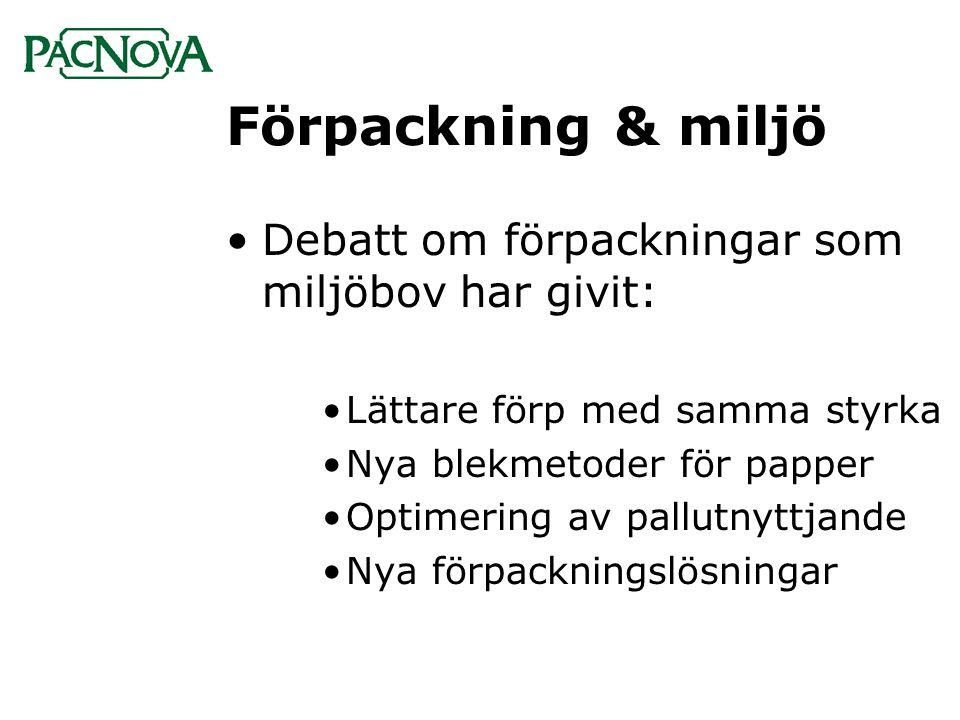 Förpackning & miljö Debatt om förpackningar som miljöbov har givit: