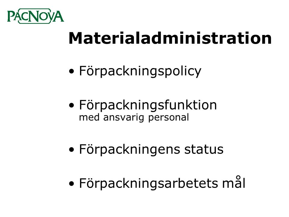 Materialadministration