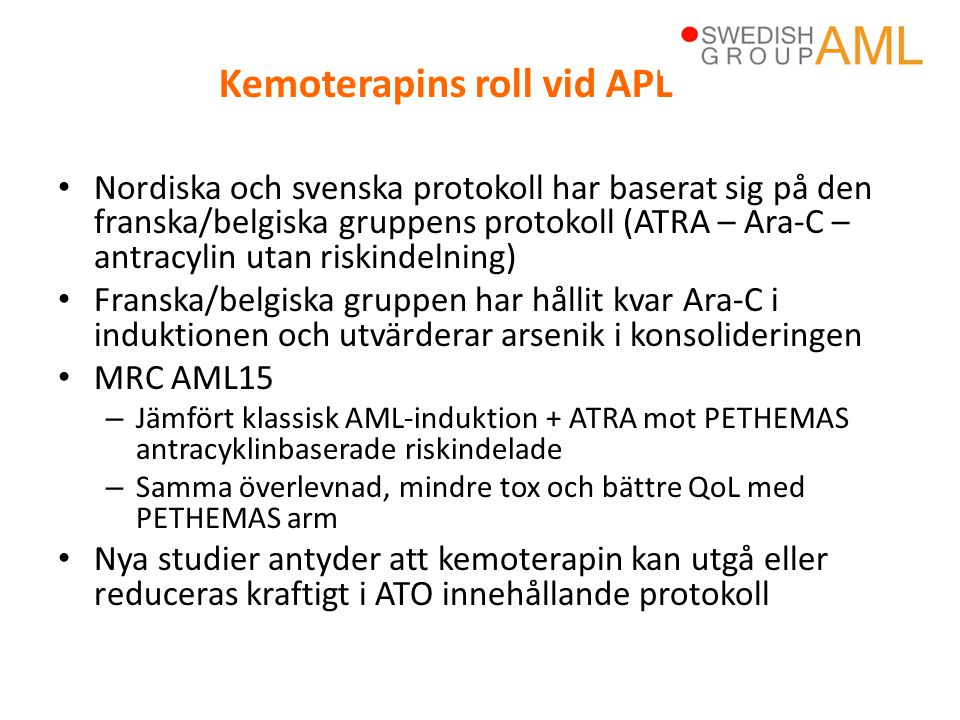 Kemoterapins roll vid APL