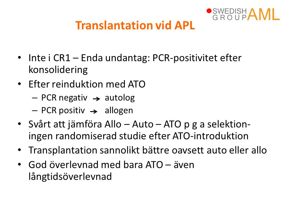 Translantation vid APL