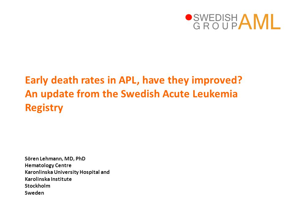 Early death rates in APL, have they improved